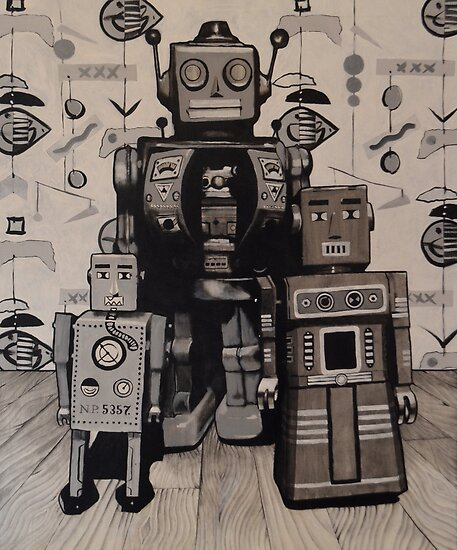 robot study #12 by Noel Sargeant