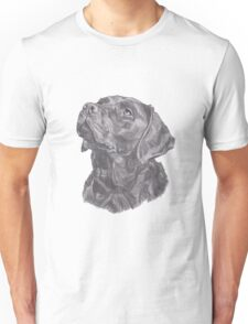 Classic Labrador Retriever Dog Profile Drawing Unisex T-Shirt