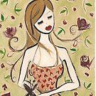 Girl Seated by Anita Ristovski
