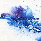 Blue and purple abstract  by Simon Rudd