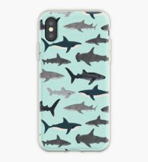 Sharks, illustration, art print ,ocean life,sea life ,animal ,marine biologist ,kids ,boys, gender neutral ,educational ,Andrea Lauren , shark week, shark, great white shark,  iPhone Case