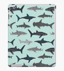 Vinilo o funda para iPad Tiburones, ilustración, impresión de arte, vida marina, vida marina, animal, biólogo marino, niños, niños, género neutro, educativo, Andrea Lauren, semana del tiburón, tiburón, gran tiburón blanco,