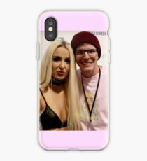 Tana Mongeau and iDubbbztv Meeting Meme iPhone Case