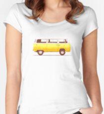 Camiseta entallada de cuello ancho Van amarillo