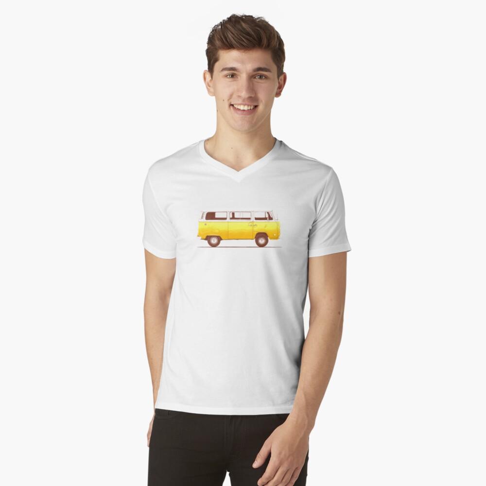 Yellow Van V-Neck T-Shirt