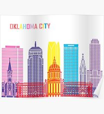 Oklahoma City V2 skyline pop Poster