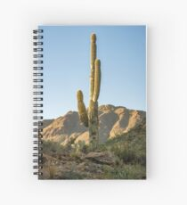 Lonley Cactus in Saguaro National Park Spiral Notebook