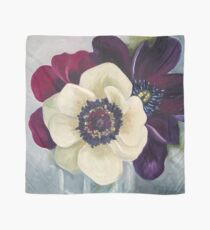 Anemone Flower Oil Painting by Angela Brown Art Scarf