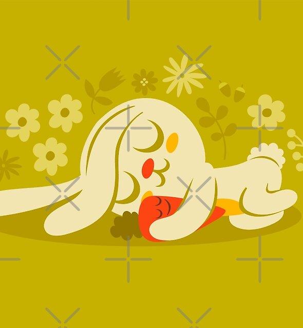« Lapin endormi et carotte » par jsongdesign