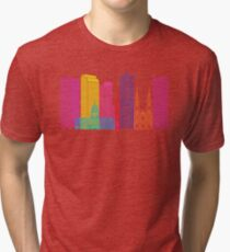 Denver V2 skyline pop Tri-blend T-Shirt