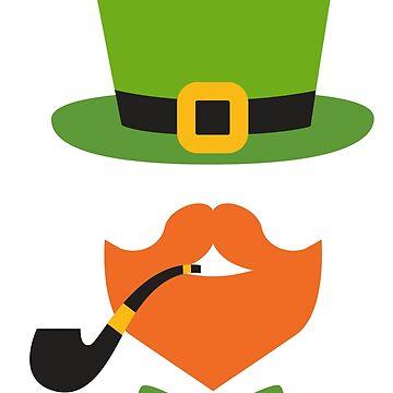 Hipster Leprechaun St Patrick's Day Irish design by MediaBee