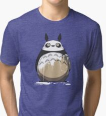 Totoro Painting Panda Tri-blend T-Shirt