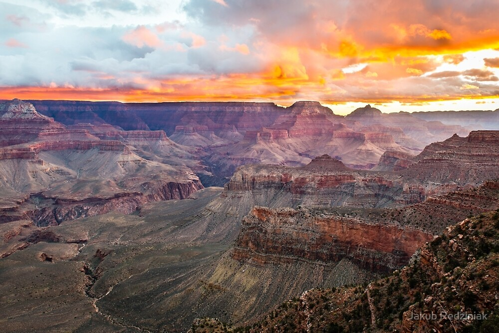 Sunrise over Grand Canyon National Park by Jakub Redziniak