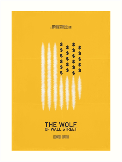 Quot The Wolf Of Wall Street Quot Art Print By Danieldevoy Redbubble