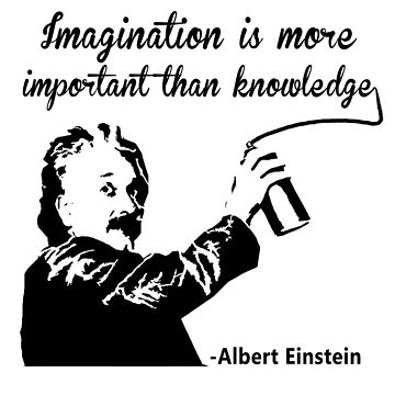 Albert Einstein t shirt Imagination is more important than knowledge l Redbubble by Rule