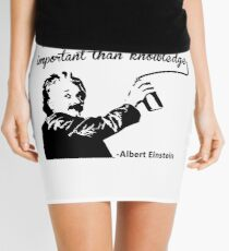 Minifalda Albert Einstein t shirt Imagination is more important than knowledge