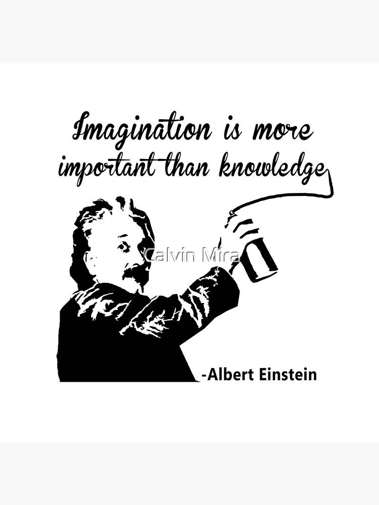 Albert Einstein t shirt Imagination is more important than knowledge de Rule
