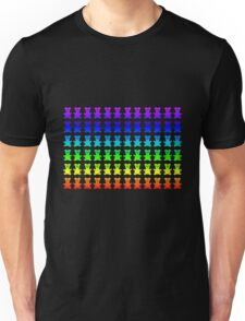 Psychedelic teddy bears. Unisex T-Shirt