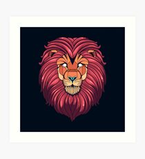 Eyes of the Lion Art Print