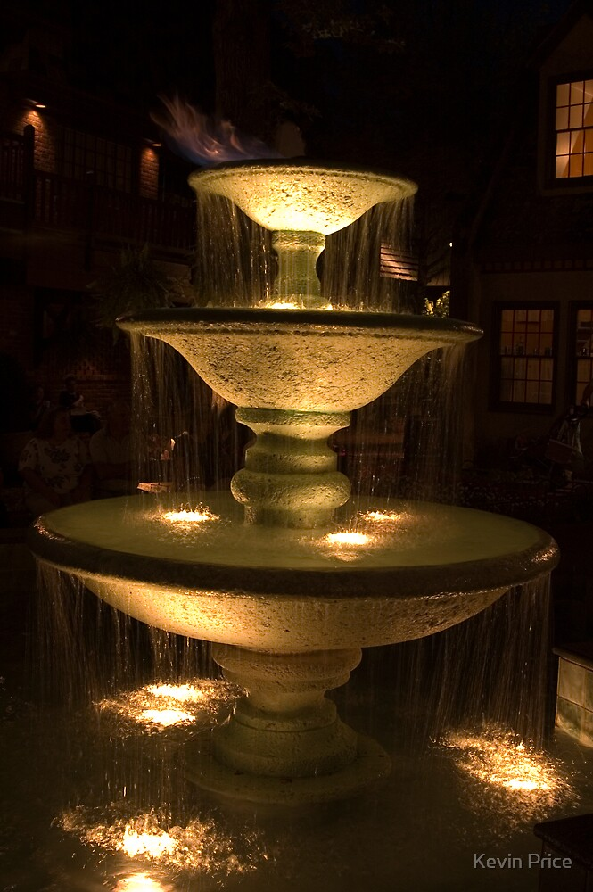illuminated fountain by Kevin Price