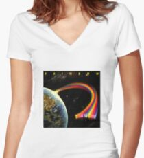 Rainbow: Down To Earth Women's Fitted V-Neck T-Shirt