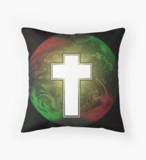 Cross Earth Throw Pillow