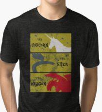 The unicorn, the shek, the dragon Tri-blend T-Shirt
