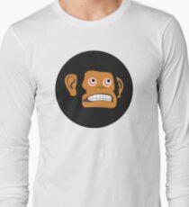 Monkey Cringe Face Long Sleeve T-Shirt