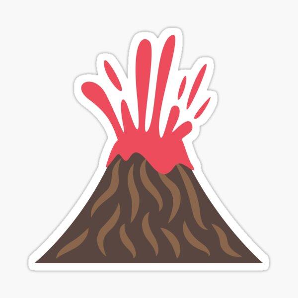 Volcano Eruption , Disaster Sticker