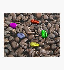 colorful coffee beans Photographic Print