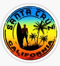 Surfing Santa Cruz California Surf Surfboard Waves Surfer Sticker