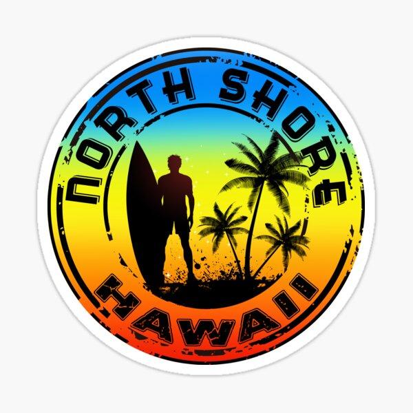 Surfing North Shore Hawaii Oahu Surf Surfboard Waves Surfer Sticker