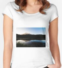 Reflections Lake - Mt Rainier National Park Women's Fitted Scoop T-Shirt