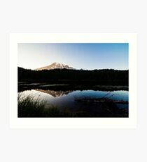 Reflections Lake - Mt Rainier National Park Art Print