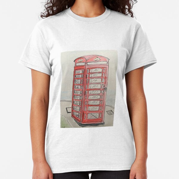 PHONE BOOTHE - WATERCOLOUR AND INK Classic T-Shirt