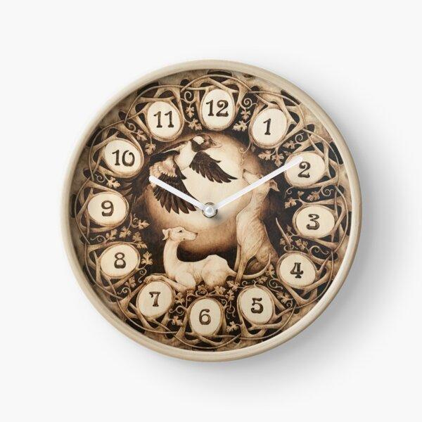 Horloge Art Nouveau Greyhound Horloge