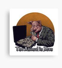 Animal in Man Canvas Print