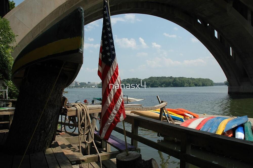 kayaks and the flag,  by nanasx4