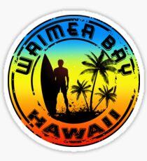 SURF WAIMEA BAY OAHU HAWAII SURFING NORTH SHORE BOOGIE BOARD SURFER Sticker