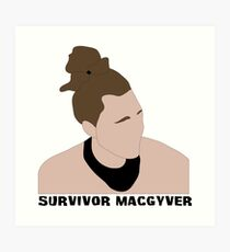 Survivor MacGyver Art Print