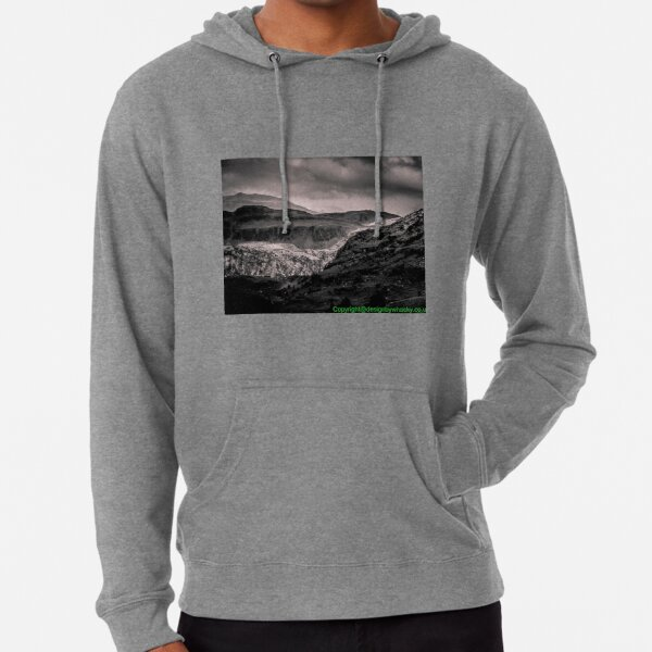 View of Snowdonia 2 bywhacky Lightweight Hoodie
