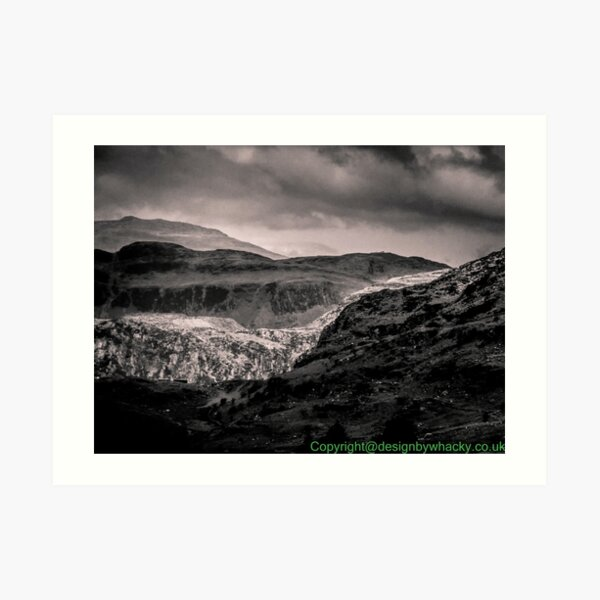 View of Snowdonia 2 bywhacky Art Print