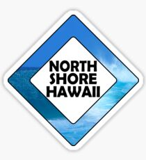 Surfing North Shore Hawaii Oahu Surf Surfboard Waves Surfer Diamond Sticker