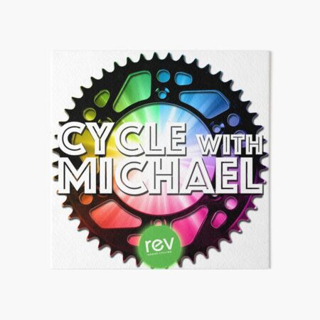 Cycle with Michael Art Board Print