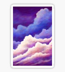 Dreamy Clouds in Blue Pink and Purple Sticker