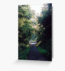 Bicycle Bridge Greeting Card
