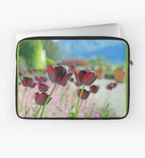 Red Burgundy Wine Tulips Laptop Sleeve