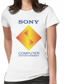 PLAYSTATION 1 LOGO PSX STARTUP Womens Fitted T-Shirt