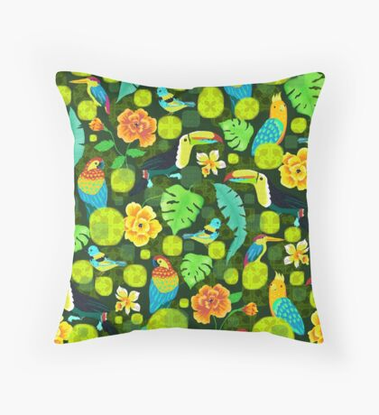 Tropical spirits Throw Pillow