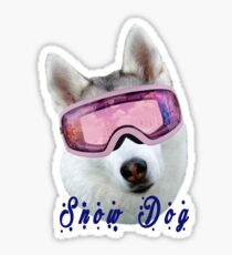 Snow Dog with Goggles Sticker